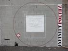 Poetry on cinder block wall