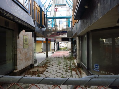 Abandoned shopping district in Christchurch.