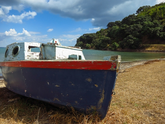 Boat on Waiheke Island, NZ