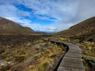 Wooden pathway at Tongariro